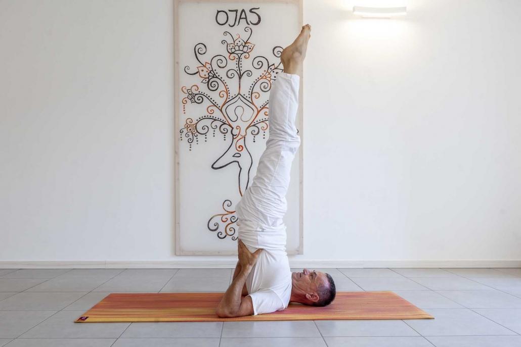 yoga, sarvangasana, yoga su misura